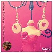 Ciambelle in fimo rosa con cuoricino a 4€ ! con 4 oggetti spedizione gratuita!