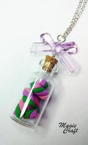 Collana Bottiglietta con Marshmallow