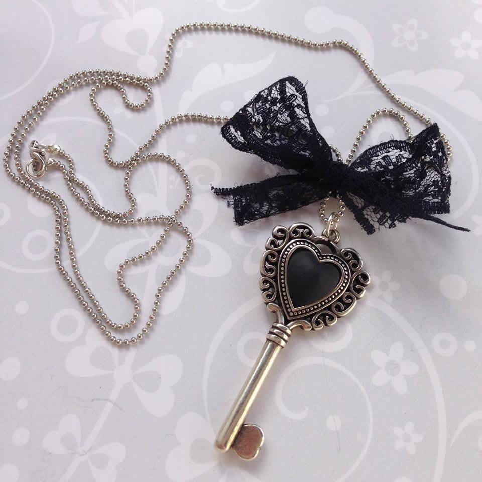 Collana Heart Key Nera