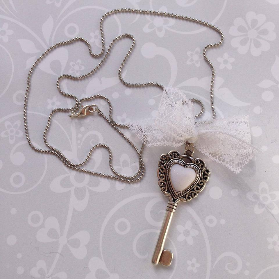 Collana Heart Key Bianca