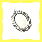 5 basi silver plated per cameo 13x18mm
