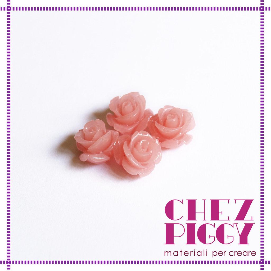 1 x perla a forma di rosa in resina - ROSA