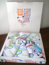 Pizza di pannolini - Idea regalo nascita - Regalo per neo papà