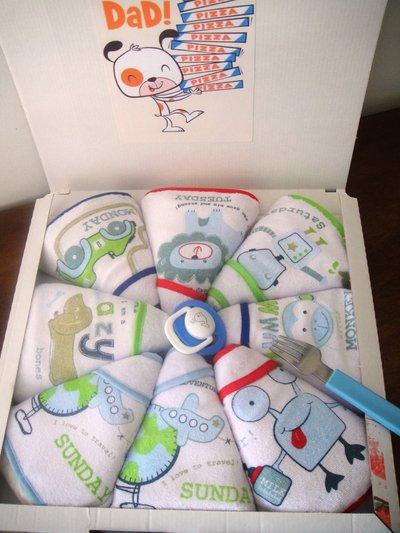 Pizza di pannolini idea regalo nascita regalo per neo for Oggetti da regalo