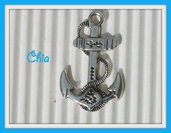 6 charms ancora 28x18mm