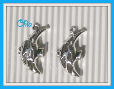 6 charms pesce 27x15mm
