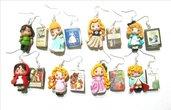 orecchini fiabe earrings fairy tales