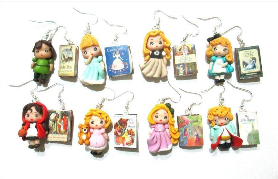 orecchini fiabe earrings fairy tales