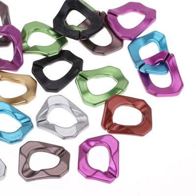 10 mix connettori anelli rettangolari  apribili 3×2.4cm