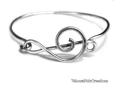bracciale chiave di violino in metallo wire