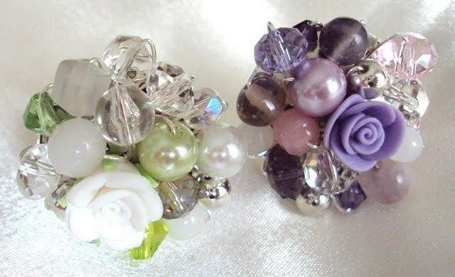 Anelli bianco e viola