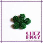 1 x perla a forma di rosa in resina - VERDE SCURO