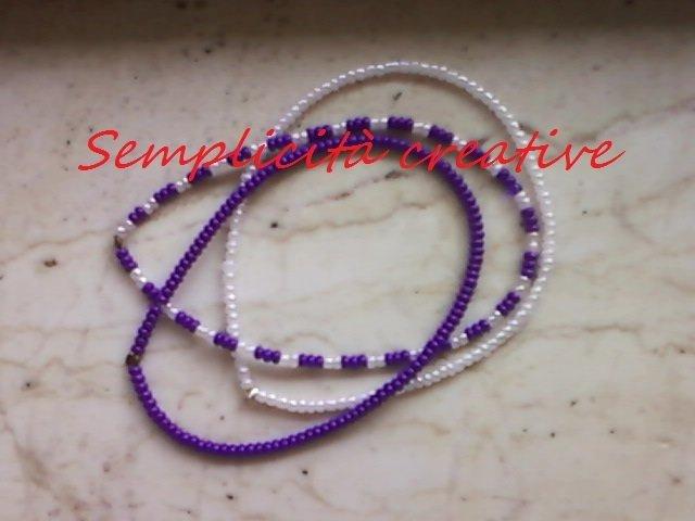 Braccialettini di perline colorati