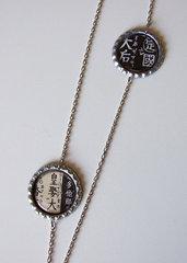 IDEOGRAMS - COLLANA CON CIONDOLI ASIMMETRICI JAPAN