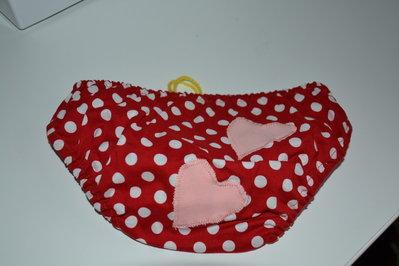 Mutandina copri pannolino in puro cotone a pois fatto a mano