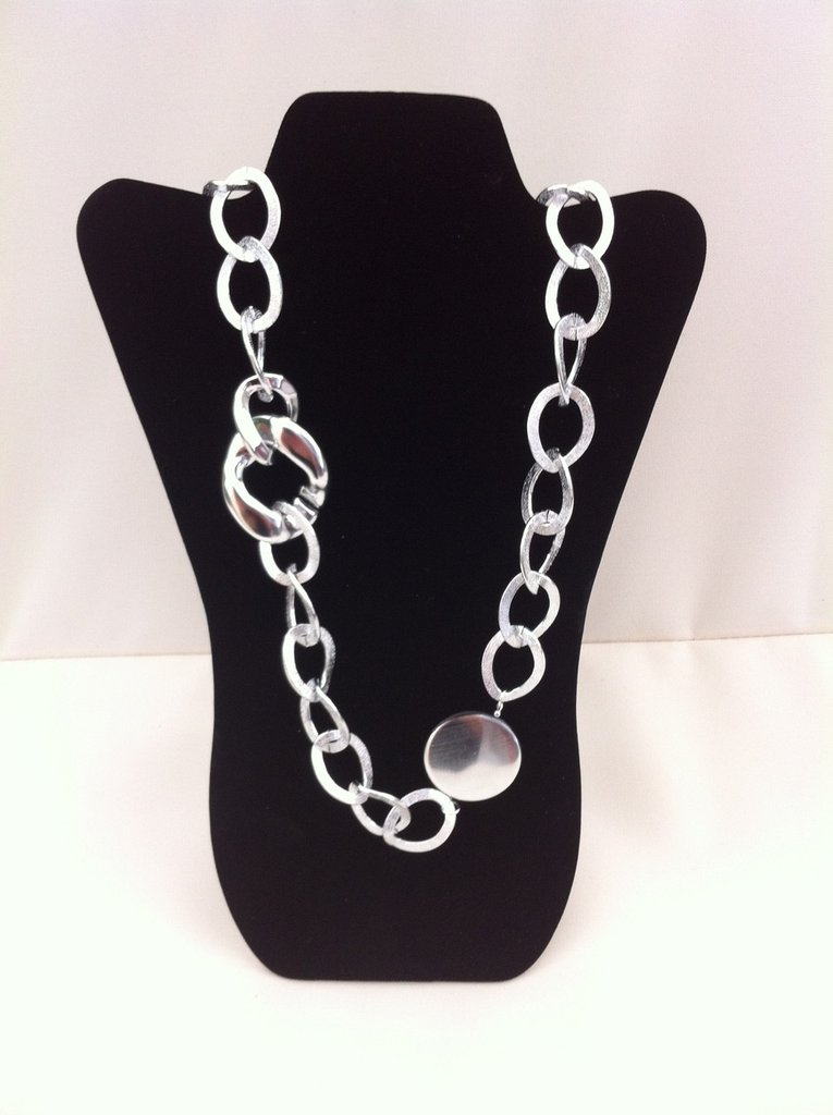 Collana lunga catena argento