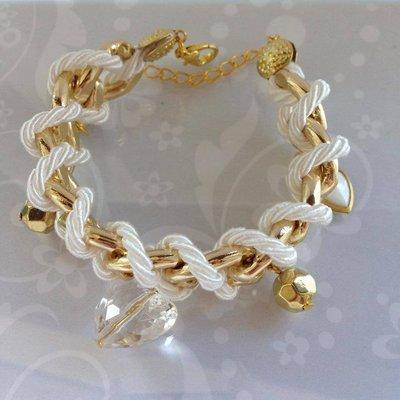 Bracciale Charms&Chain Bianco