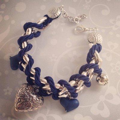 Bracciale Charms&Chain Blu