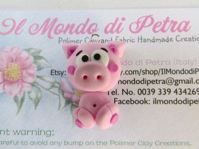 Charm Porcellino in Fimo Animaletti Simpatia