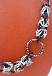 chainmaille argento e nero