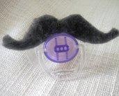 Ciuccio con baffi - accessorio per foto bimbo - Idea regalo nascita per neo papà