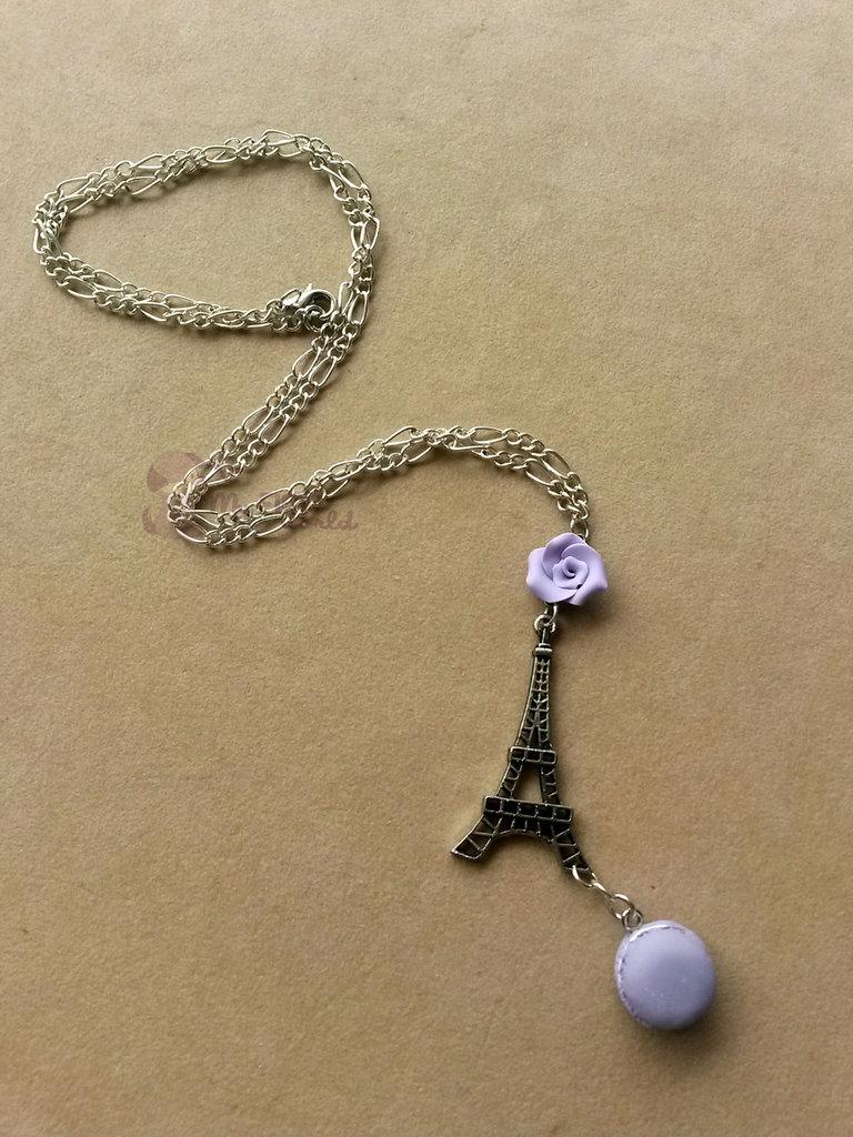 Collana con Torre Eiffel e mararon fimo