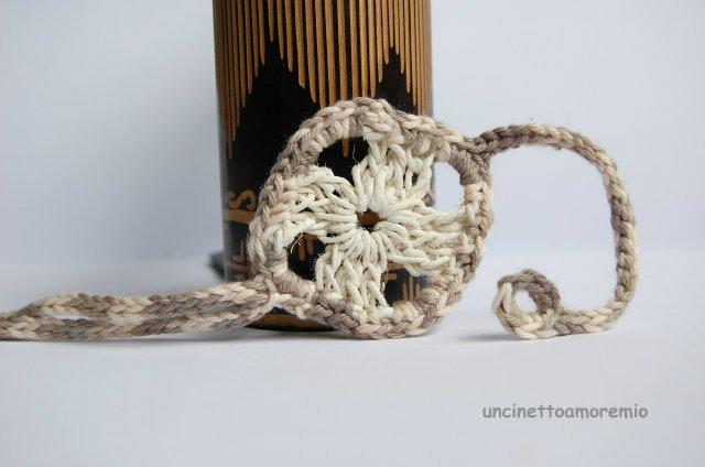 Bracciale uomo uncinetto - natural style - multicolore corda