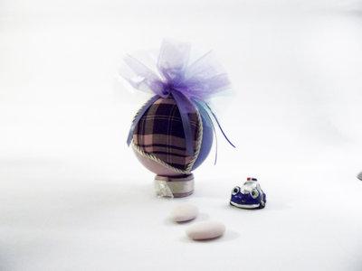 Pallina decorativa in stoffa, Piccolo Pomander nozze, Qualcosa di blu, Bomboniera segnaposto per le feste