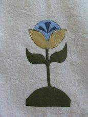 asciugamano fiore giallo blu