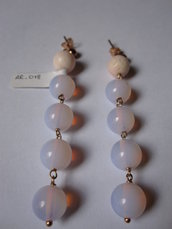 orecchini in argento rosa e pietre dure