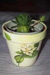 Vasi di coccio decorati