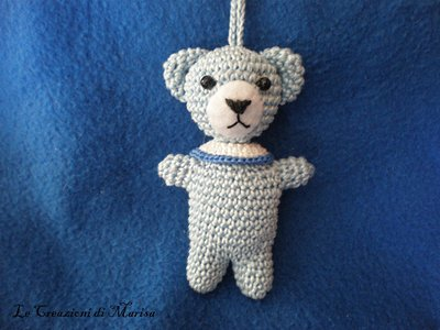 orsetto teddy amigurumi portachiavi uncinetto