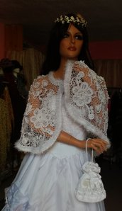 mantella per abito  da sposa, non in vendita, campione