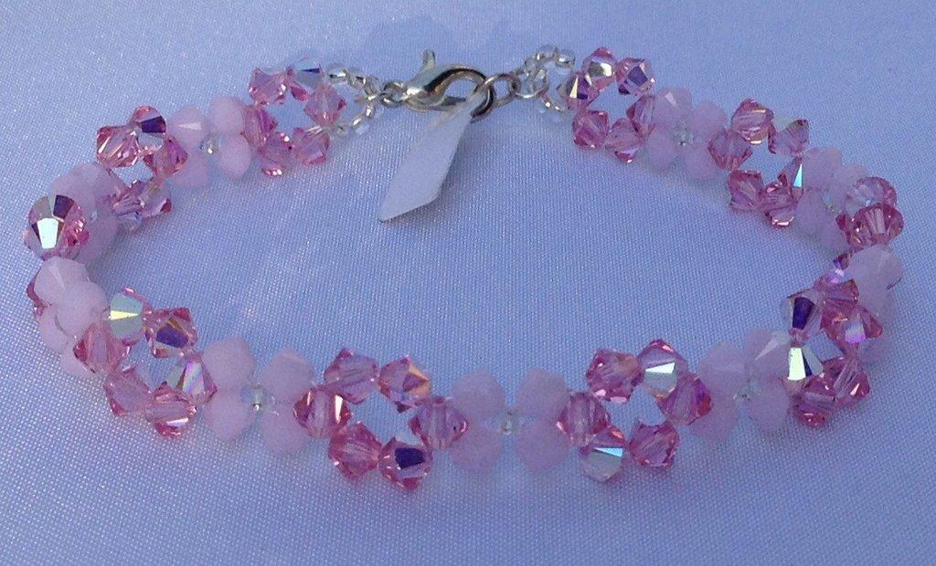 Bracciale Cristallo Swarovski Elements Tonalità Rosa