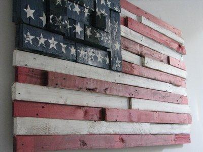 Quadro bandiera americana per la casa e per te - Casa americana in legno ...