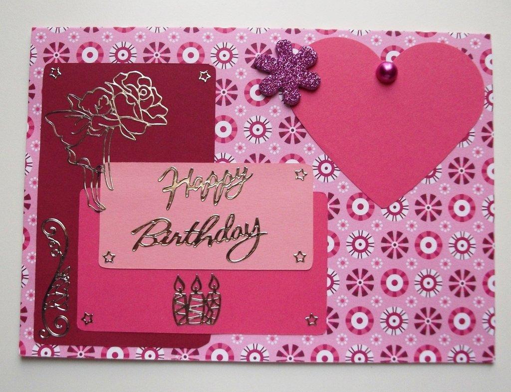 Biglietti di Auguri per Compleanno - Happy Birthday in Pink^^