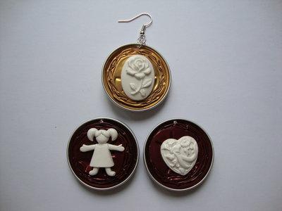 Orecchini Nespresso + miniature bimba/cuoricino