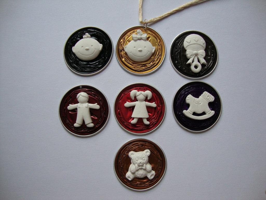 Ciondolo Nespresso + miniature in ceramica