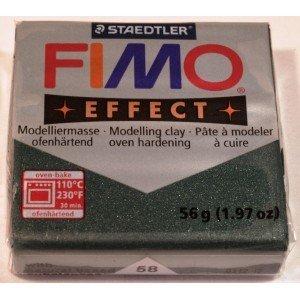 Fimo soft effect verde smeraldo metallico N 58
