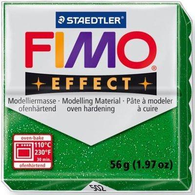 Fimo effect verde glitter N 502