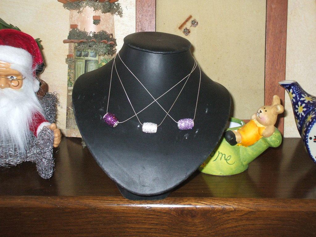 collana con ciondolo di swarovski e argento