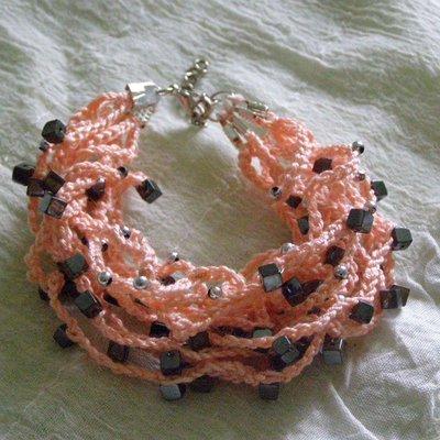 braccialetto multifilo rosa