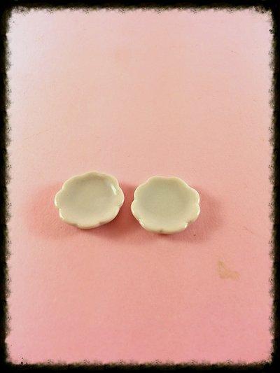 Piatto miniatura bianco