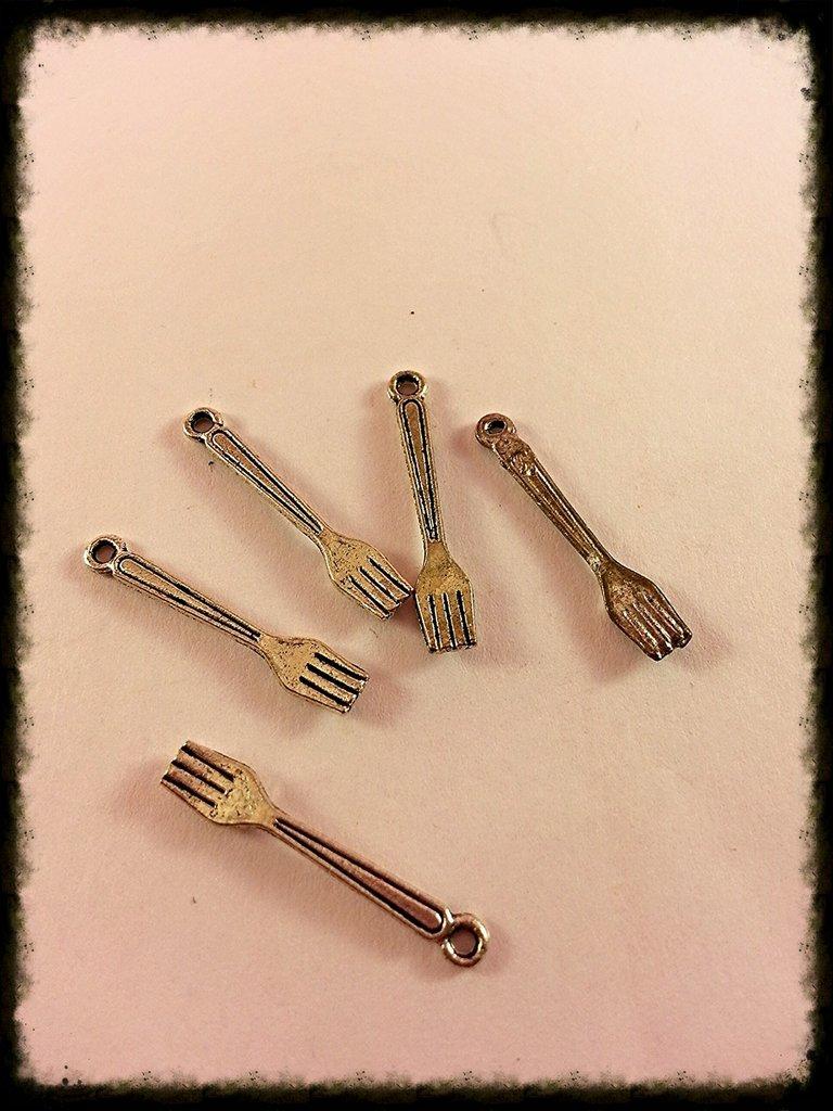 Charm forchetta ciondolo miniatura