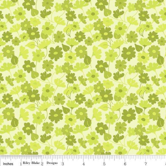 tessuto americano fiori verde