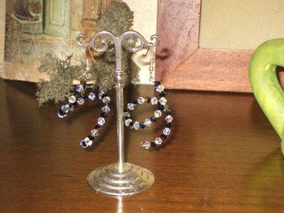 orecchini di swarovski e argento