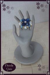 Anello con Perle e Cristalli