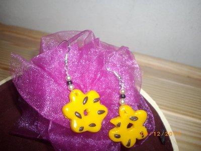 Orecchini fiore/biscotto