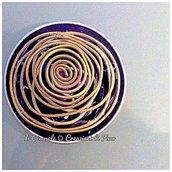 Anello regolabile in alluminio riciclato con spirale in ottone