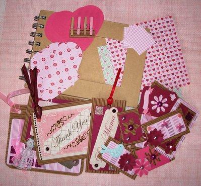 Kit Creativo per Scrapbooking - *Album PortaFoto* - Pink&Sweet Set